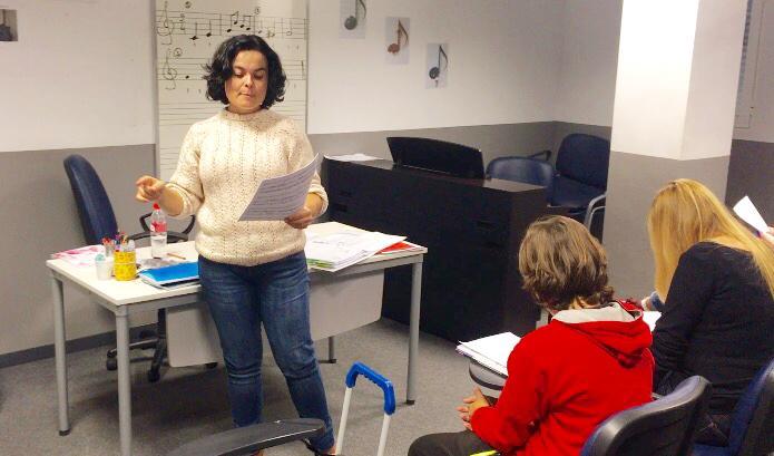 Marie Noelle, profesora de lenguaje musica